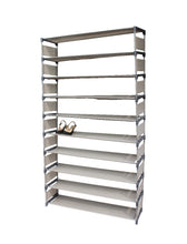 Load image into Gallery viewer, 50 Pairs 10 Tiers Shoe Rack