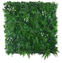 Load image into Gallery viewer, White Flowering Jungle Vertical Garden / Green Wall UV Resistant 1m x 1m