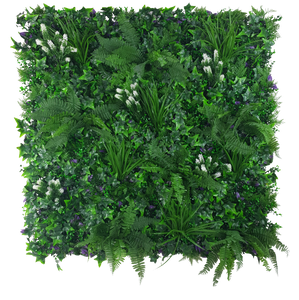 White Flowering Jungle Vertical Garden / Green Wall UV Resistant 1m x 1m