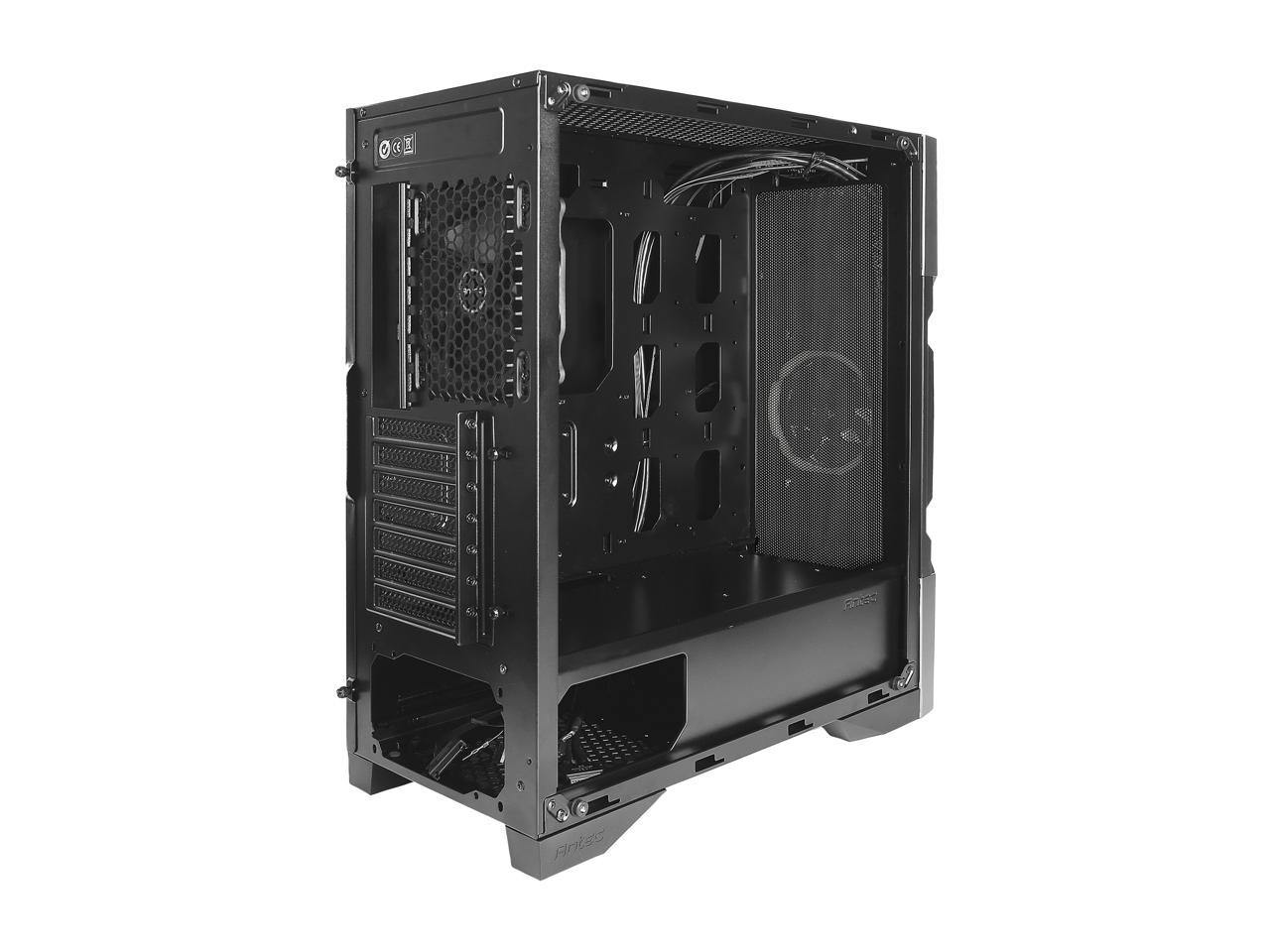 Antec Dark Avenger DA601 E-ATX Mid Tower Case/ARGB Motherboard Sync/Tempered Glass/Prizm 120 ARGB Fan Included