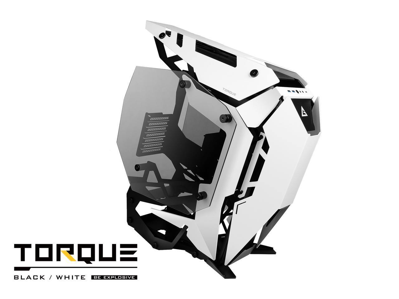 Antec TORQUE White / Black Aluminum ATX Mid Tower Computer Case/ Winner of iF Design Award 2019