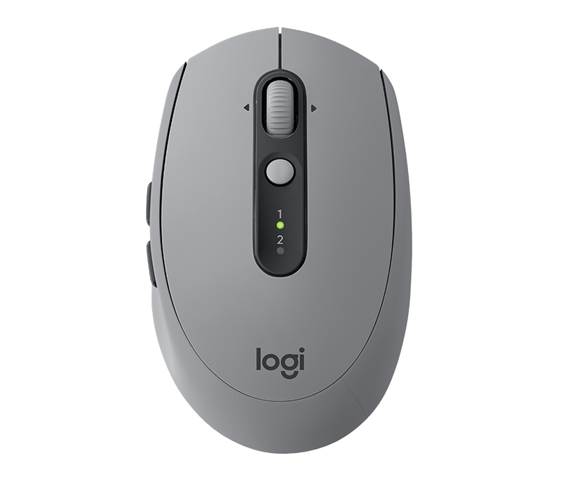 Logitech M590 Multi-Device Silent Wireless Mouse - Mid Grey Tonal