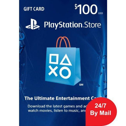 SONY Playstation Network Card 100$ (Online Game Card) - US Account