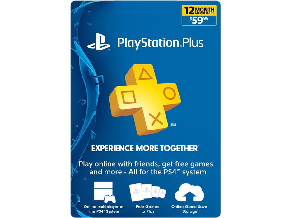 SONY Playstation Plus Card - 1 Year Membership - 59.99$ (Online Game Card) - US Account