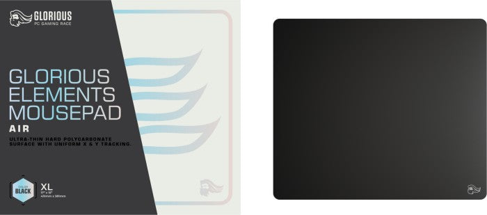 Glorious PC Gaming Race Glorious Elements Air XL Gaming mousepad, black (GLO-MP-ELEM-AIR)