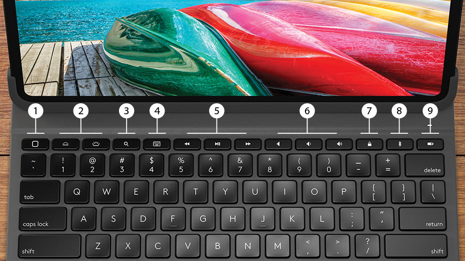 LOGITECH SLIM FOLIO PRO For iPad Pro 11-INCH (3RD GEN) Backlit keyboard case with Bluetooth