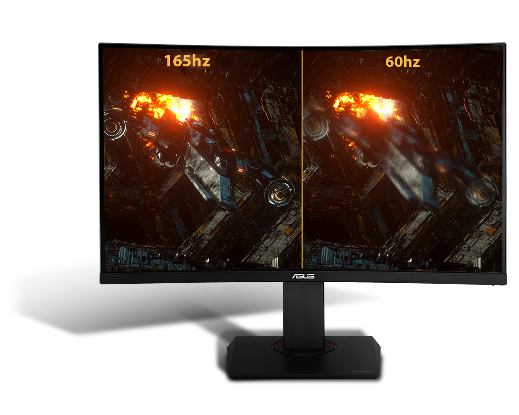 Asus TUF Gaming VG27BQ HDR Gaming Monitor – 27 inch WQHD (2560x1440), 0.4ms*, 165Hz (above 144Hz)*, Extreme Low Motion Blur Sync, Adaptive-Sync, HDR10