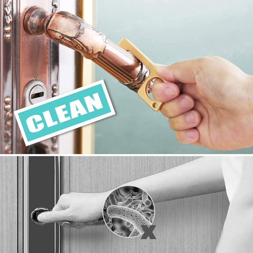 Hygiene Hand Antimicrobial Door Opener Key chain - Hand Hygienic, No Touch Tool