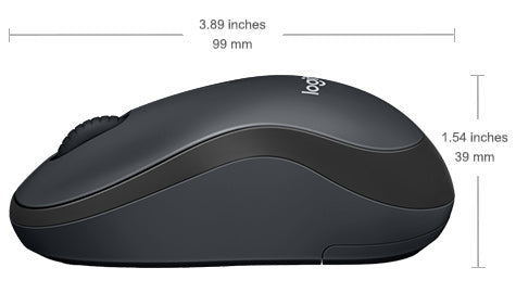 Logitech Silent M220 Wireless Mouse - Charcoal