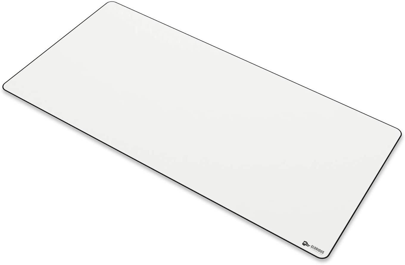 Glorious XXL Extended Gaming Mouse Mat/Pad - Large, Wide (XLarge) White Cloth Mousepad, Stitched Edges | 36x18 (GW-XXL)