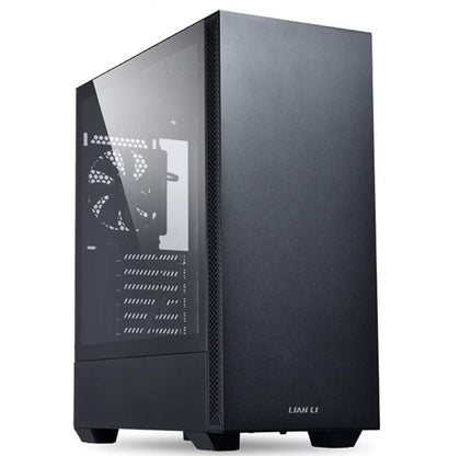 Lian Li Mid-Tower Chassis ATX Computer Case PC Gaming Case w/Tempered Glass - Black