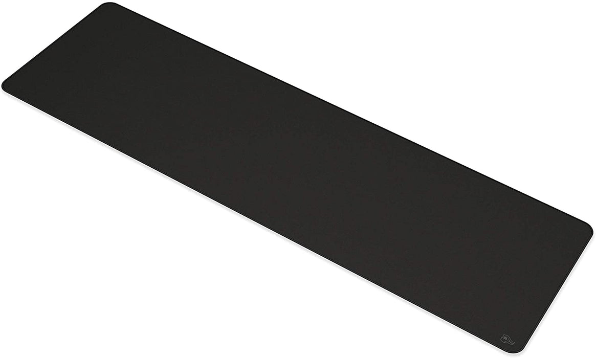 "Glorious Large Extended Gaming Mouse Pad/Mat - Stealth Edition - Long Black Cloth Mousepad, Stitched Edges | 36x11"" (G-E-Stealth)"