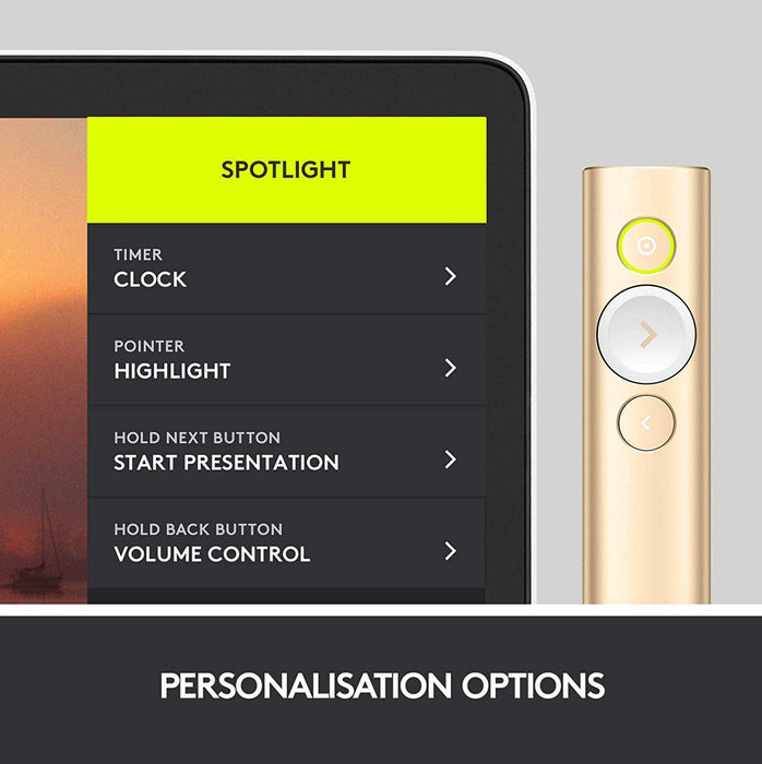 Logitech SpotLight Remote Presenter - Gold