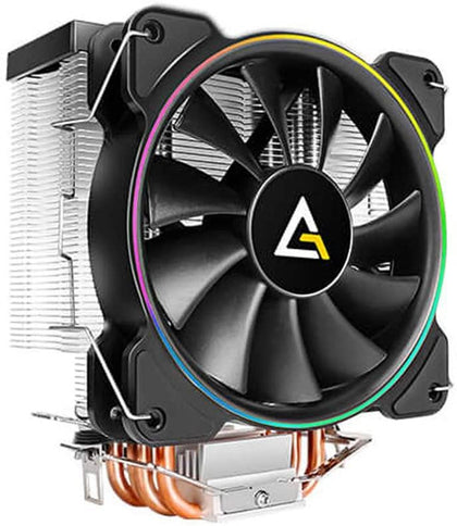 Antec CPU Cooler, A400 RGB, 4-Pin Connector PWM Silent Fan for Intel LGA 775/1150 / 1151/1155 / 1156/1366 / 2011/2066 & AMD Socket FM2 / FM1 / AM3+ / AM3 / AM2 + / AM2 / AM4