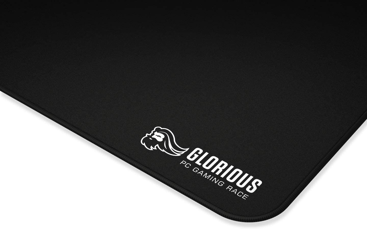 Glorious XXL Extended Gaming Mouse Mat/Pad - Large, Wide (XLarge) Black Cloth Mousepad, Stitched Edges | 18x36