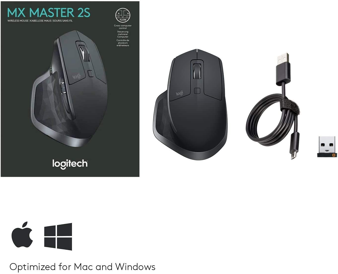 Logitech MX Master 2S Wireless Mouse 910-005139- GRAPHITE