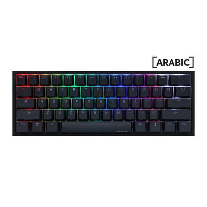 Ducky One 2 Mini US QWERTY/Arabic Layout Gaming Keyboard - Cherry MX Blue RGB Switch