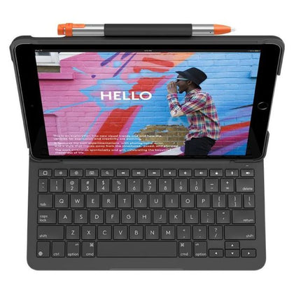 Logitech Slim Folio iPad Keyboard Case(24.6 cm (9.7