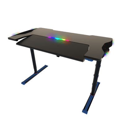 Twisted Minds GDTS-4 RGB Gaming Desk - Black/Blue