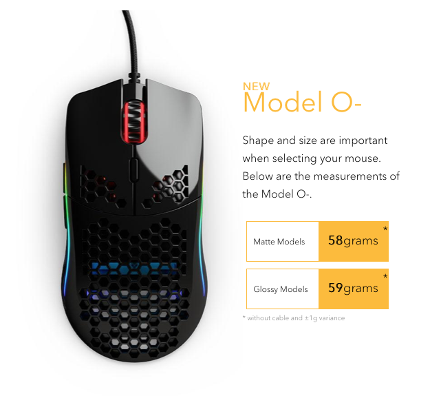 Glorious Model O (Model O, Matte Black)