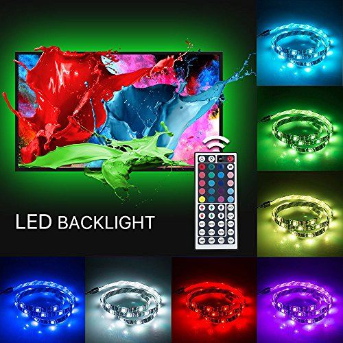 Gaming Monitor RGB Colour Changing USB LED Strip Light 0.5 x 4 Meter