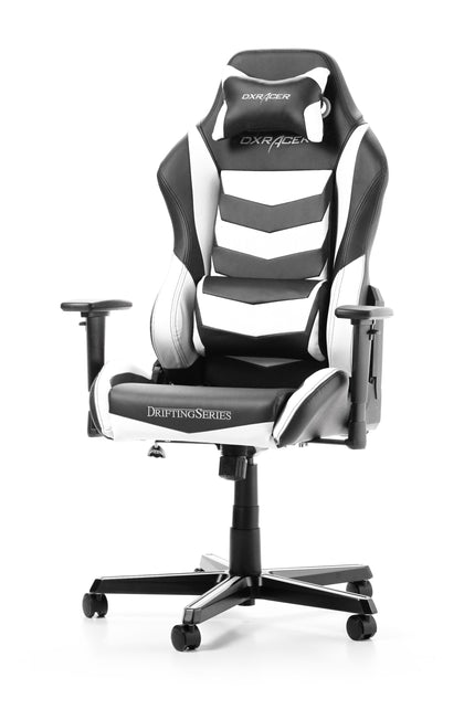 DXRacer Drifting Series Conventional Swivel Chair PU Leather DM166/NW Black/White