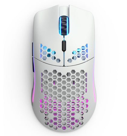 Glorious Model O Wireless Worlds Lightest RGB Gaming Mouse (Matte White Edition) / Max DPI 19,000 / Glorious BAMF Sensor / Battery Life up to 71 Hours / 2.4 Ghz Lag-Free Wireless / Weight 69 Grams! / USB-C Ascended Charging Cable / GLO-MS-OW-MW