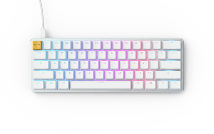 Glorious PC Gaming Race GMMK COMPACT white Ice Edition, ABS, white, Gateron BROWN, US (GLO-GMMK-COM-BRN-W)