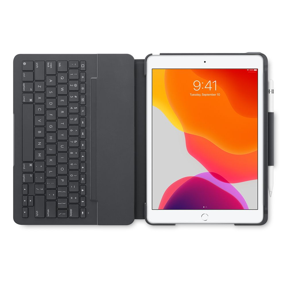 Logitech Slim Folio Case with Integrated Bluetooth Keyboard for iPad 7th gen - Gray | 920-009653