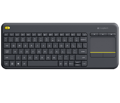 Logitech K400 Plus Wireless Touch Keyboard for PC Connected TVs, Arabic-English, Black, 920-007153