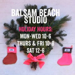 Balsam Beach Studio Holiday Hours