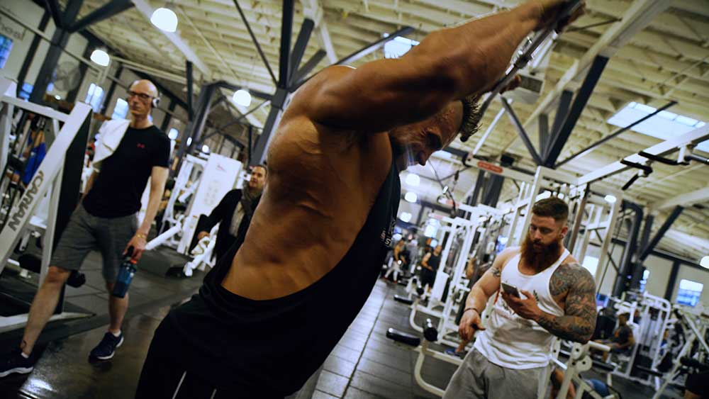 Back workout bent arm pulldowns 2
