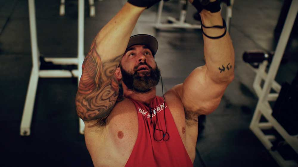 Back and biceps workout close grip pulldown