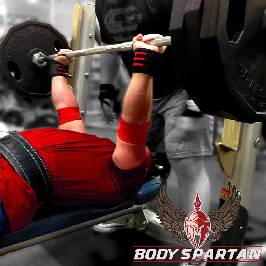 Bench press form for powerlifting with arch