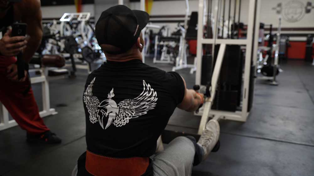 Low cable rows for back workout