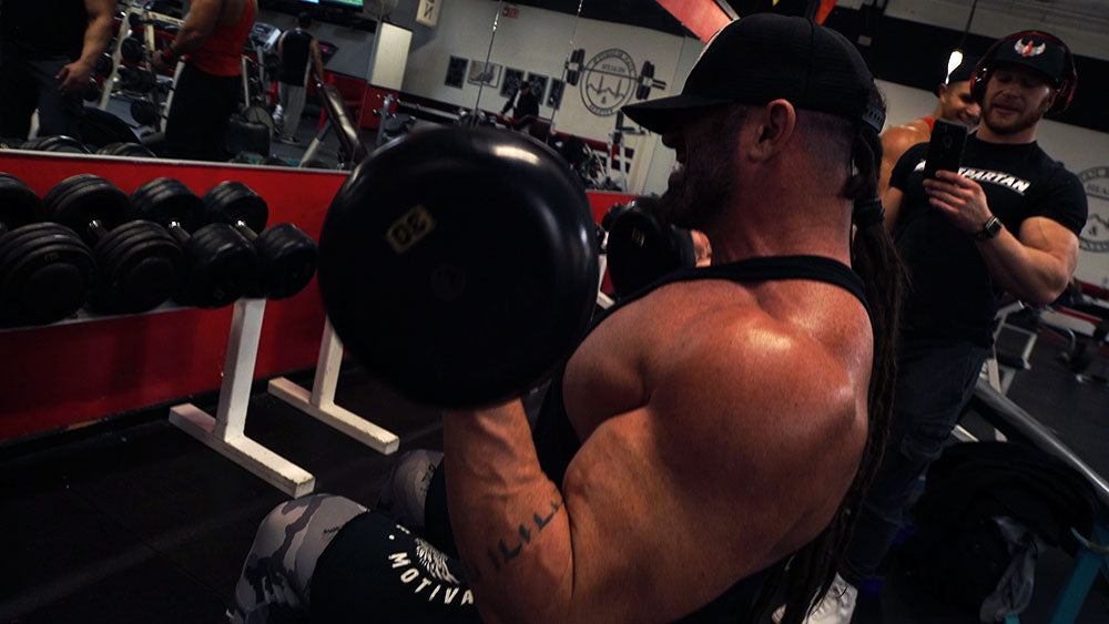 Big arms workout rotational curls