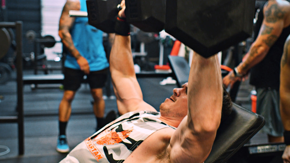 Incline dumbbell press for chest workout