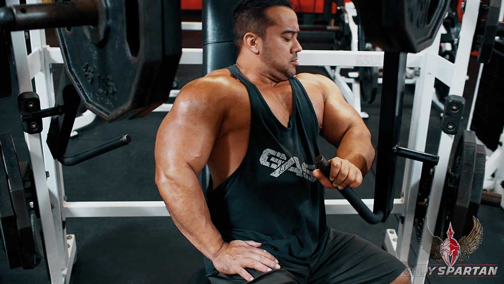 chest workout with Single arm hammer strength press