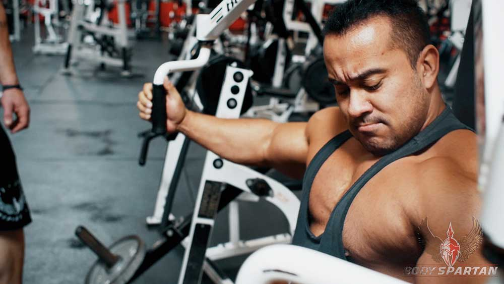 Chest workout partial reps