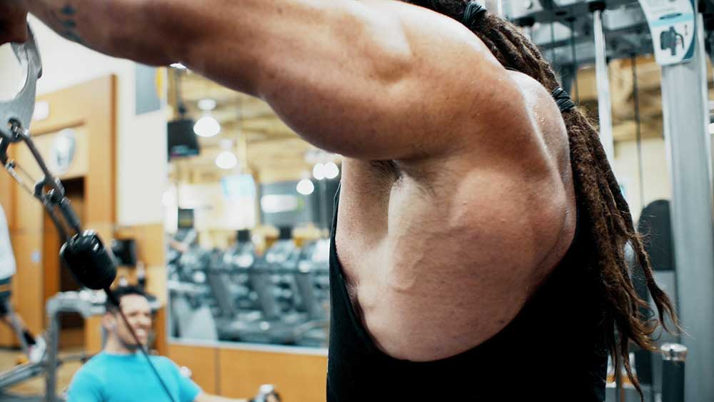 Cable side lateral raises for shoulders