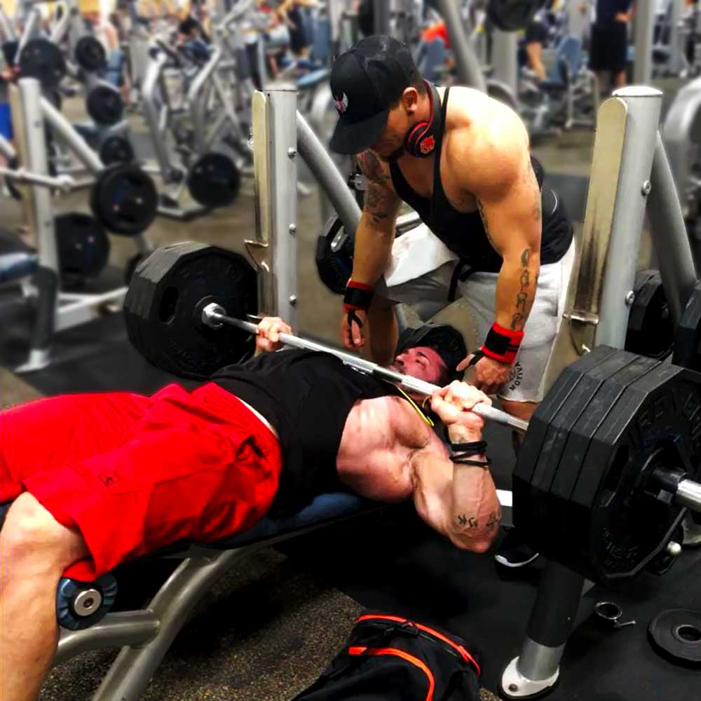 Decline barbell bench press for chest workouts