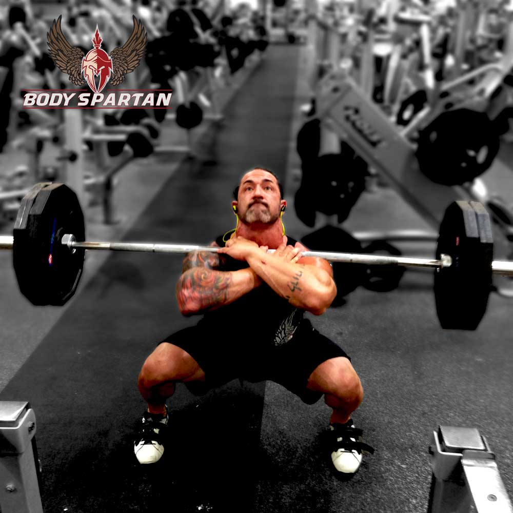 front squats bottom position
