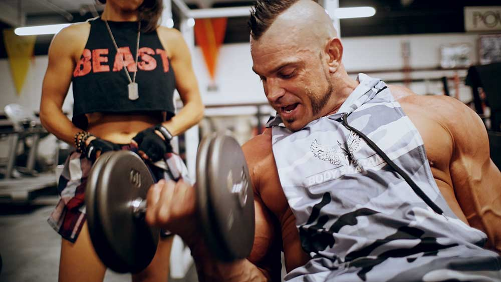 Incline curls for upper body workout 02