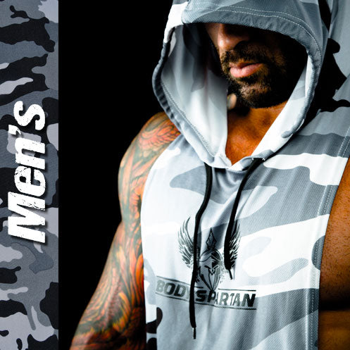 Men's sleeveless hoodie for workouts