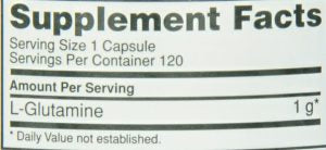 Optimum Nutrition Glutamine Capsules Ingredients