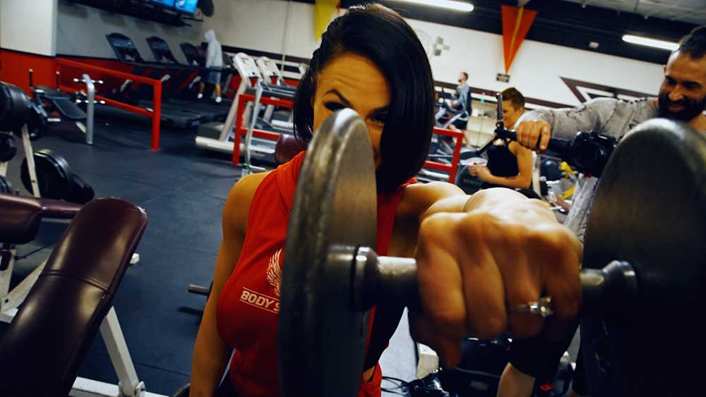 Front delt raises, shoulder workout for girls