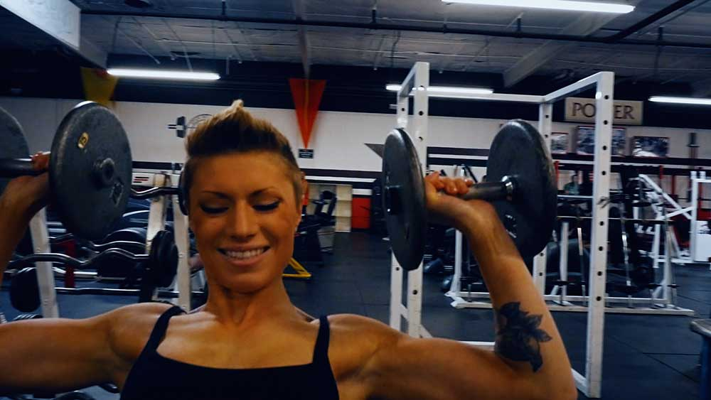 dumbbell shoulder press, should workout for girls