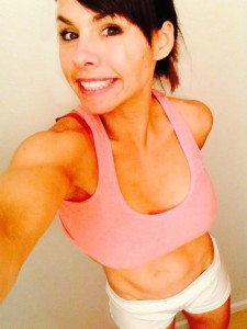 Priscilla Tuft has six pack abs after fitness weekend