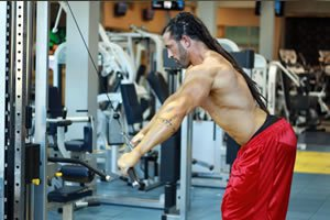 Back workouts using straight arm pushdowns