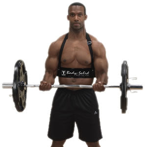 Use the arm blaster to build huge biceps
